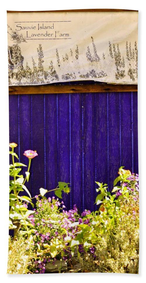 Sauvie Island Beach Towel featuring the photograph The Lavender by Image Takers Photography LLC - Carol Haddon