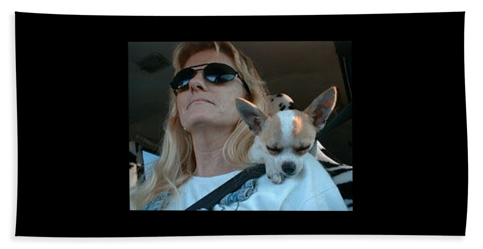 Chihuahua Beach Towel featuring the photograph The Long Ride Home by Leah Delano