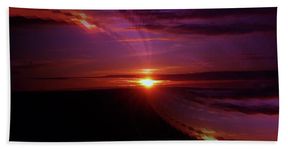 Sunsets Beach Towel featuring the photograph The Longest Sunset by Jeff Swan