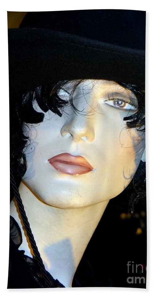 Mannequins Beach Towel featuring the photograph The Look by Ed Weidman