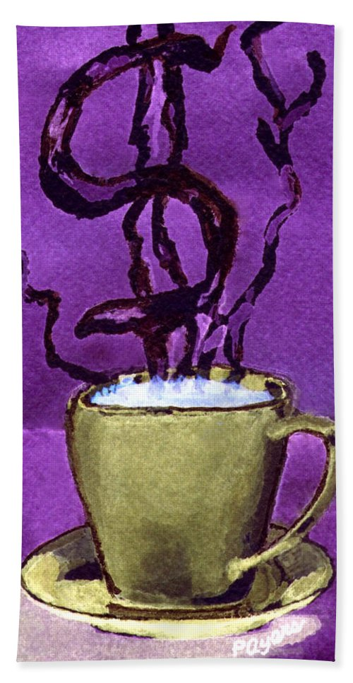 Money Beach Towel featuring the painting The Midas Cup by Paula Ayers