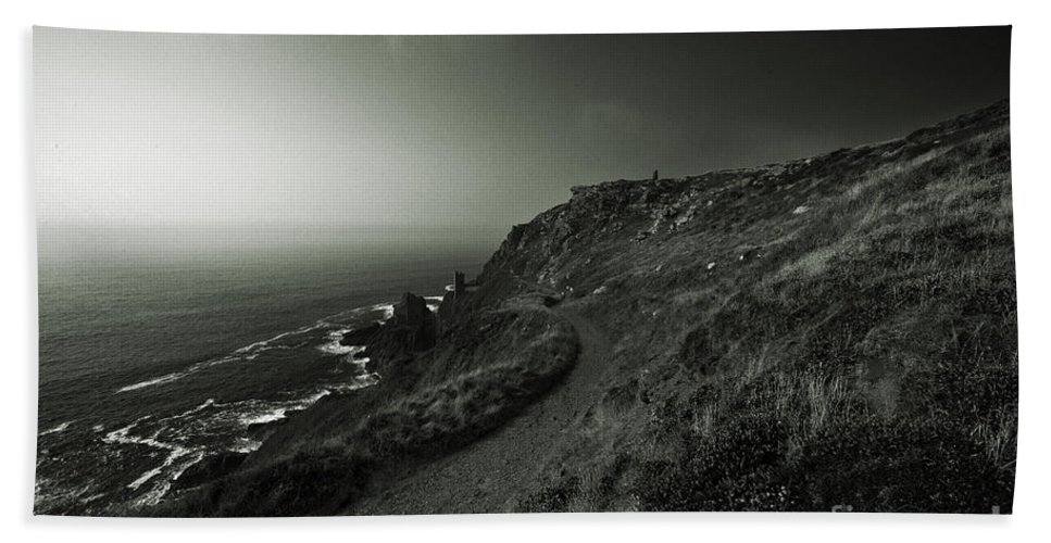 Bottallack Beach Towel featuring the photograph The Mines Of Bottallack by Rob Hawkins