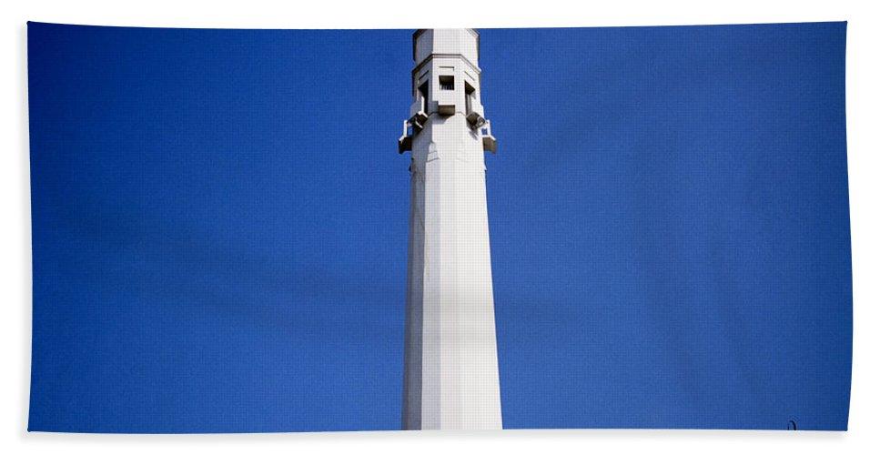 Minimalist Beach Towel featuring the photograph The Modern Minaret by Shaun Higson
