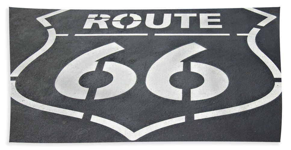 Route Beach Towel featuring the photograph The Mother Road by Ricky Barnard