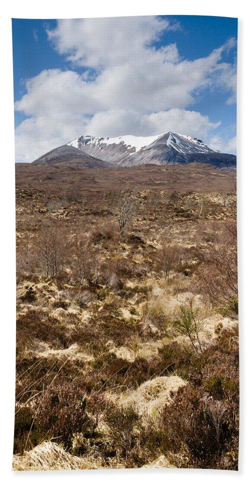 Beinn Eighe Beach Towel featuring the photograph The Munro Of Sgurr Nan Fhir Duibhe by David Head
