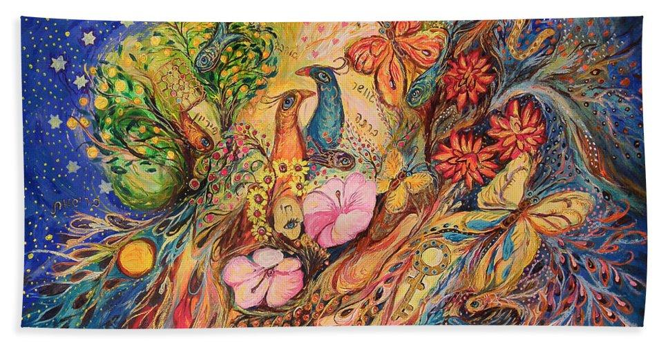 Original Beach Towel featuring the painting The Night Sky Of Mediterranean by Elena Kotliarker