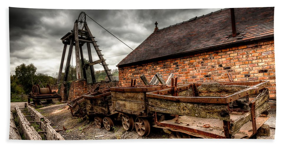 Architecture Beach Towel featuring the photograph The Old Mine by Adrian Evans
