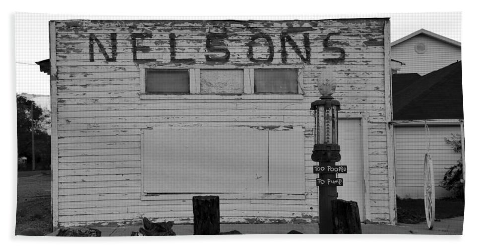 Fine Art Photography Beach Towel featuring the photograph The Old Nelsons Station by David Lee Thompson