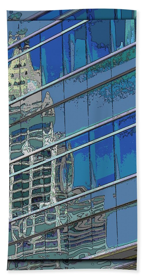 Past Beach Towel featuring the digital art The Past Reflecting On The Present by Tim Allen
