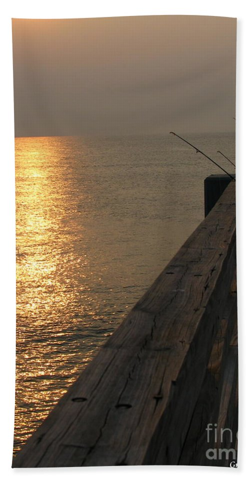 Art For The Wall...patzer Photography Beach Towel featuring the photograph The Pole by Greg Patzer