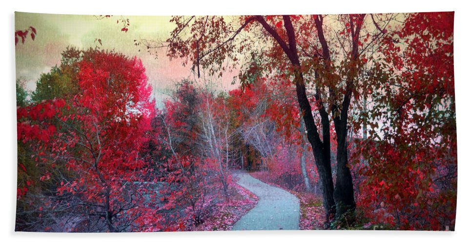 Path Beach Towel featuring the photograph The Pondering Path by Tara Turner