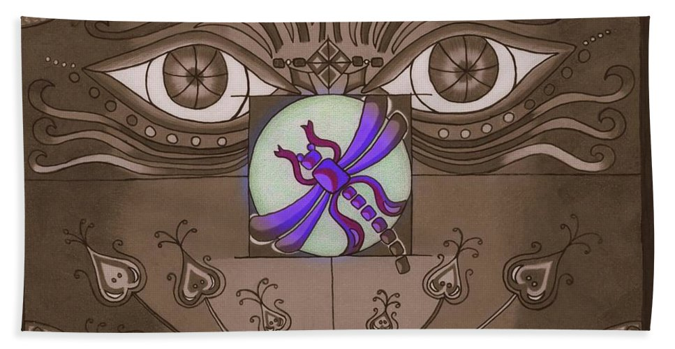 Grey Beach Towel featuring the digital art The Purple Express by Teri Schuster