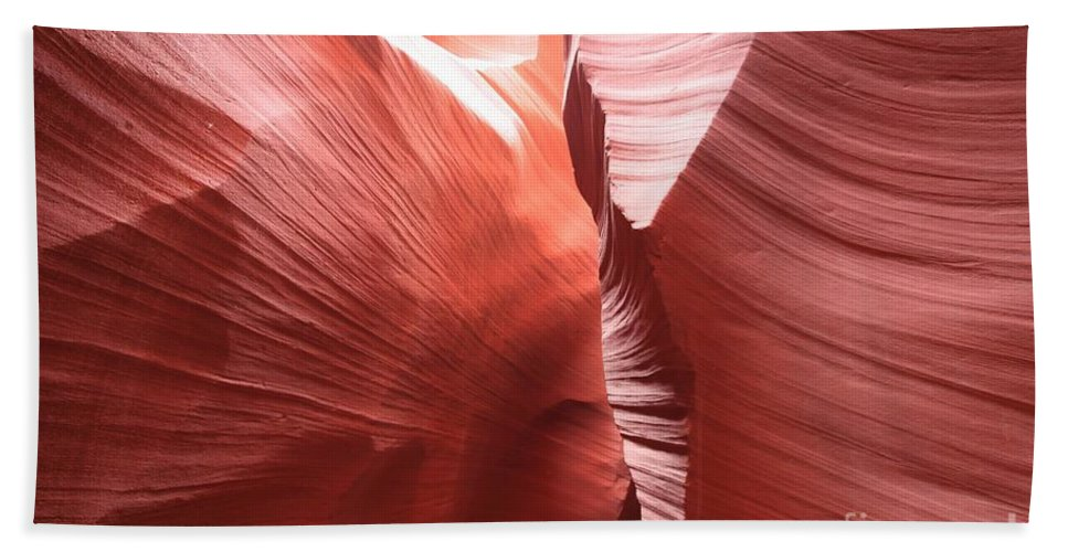 Arizona Slot Canyon Beach Towel featuring the photograph The Purple Passage by Adam Jewell