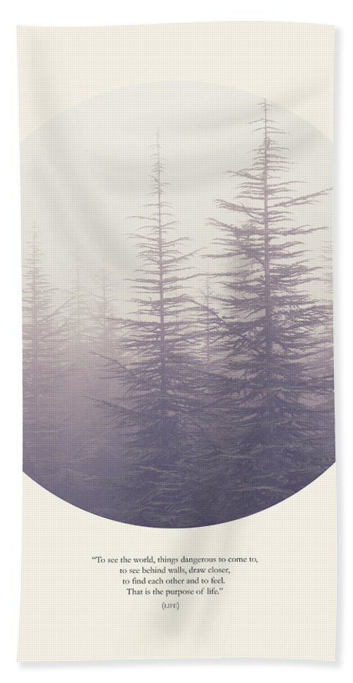 Woods Beach Towel featuring the photograph The Purpose Of Life by Guido Montanes Castillo
