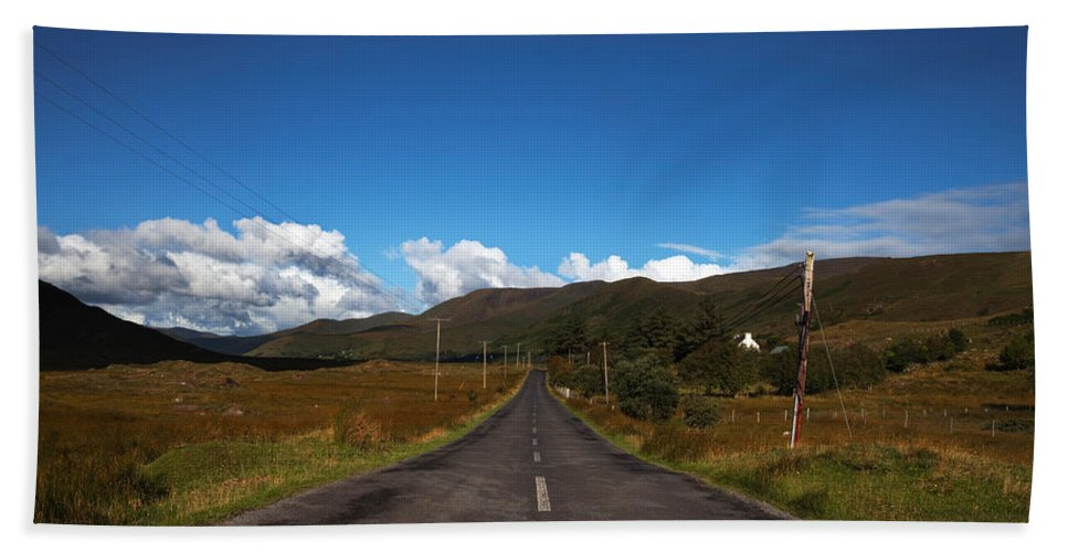 Photography Beach Towel featuring the photograph The R300 Road At Finny, County Mayo by Panoramic Images
