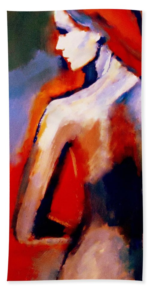 Nude Figures Beach Towel featuring the painting The Radical Lack by Helena Wierzbicki