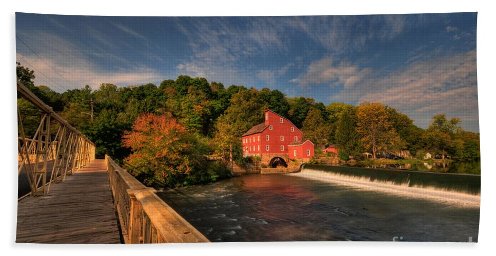 Clinton Beach Towel featuring the photograph The Red Mill by Paul Ward