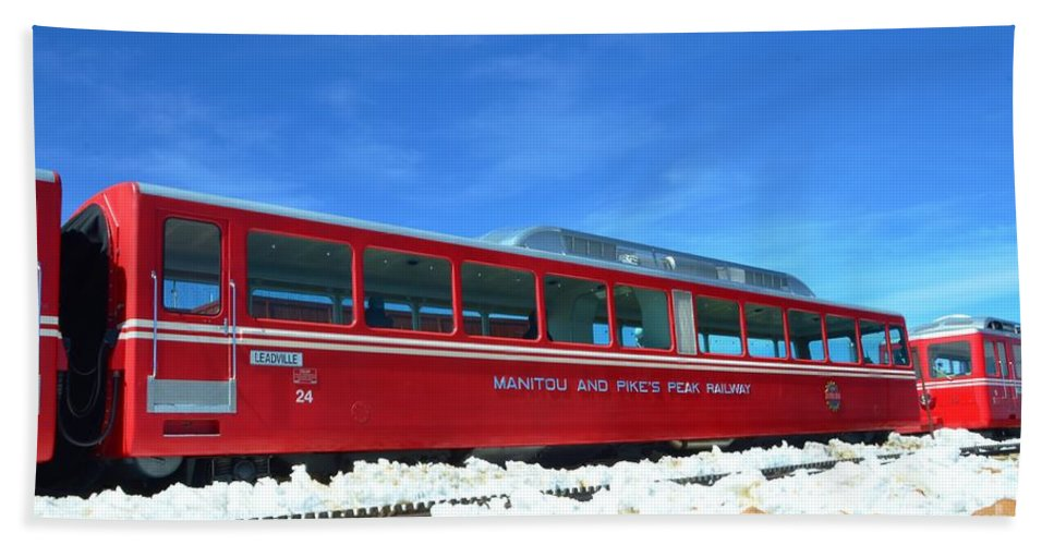 Red Beach Towel featuring the photograph The Red Train by Kathleen Struckle
