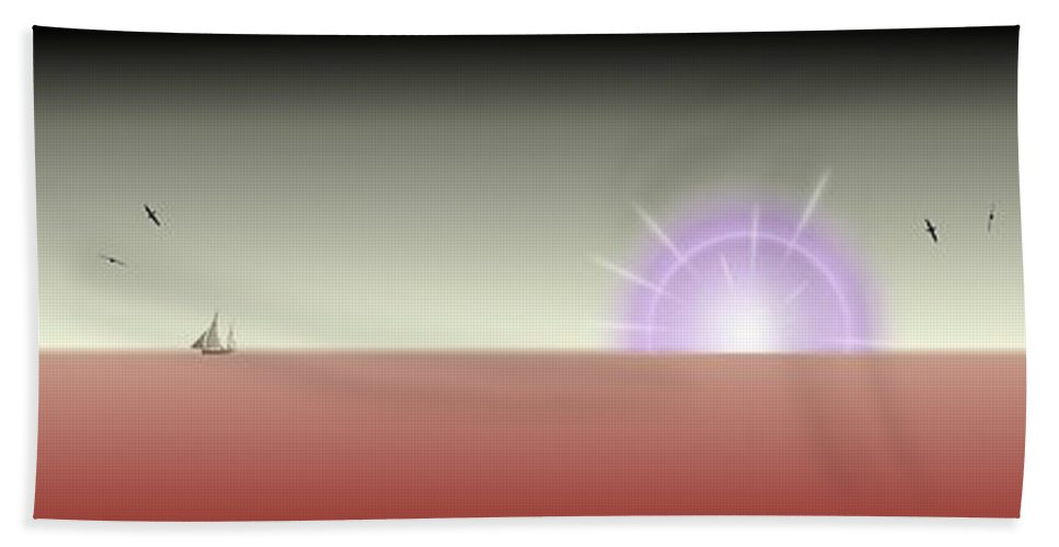 Surreal Beach Towel featuring the digital art The Rising by Tim Allen