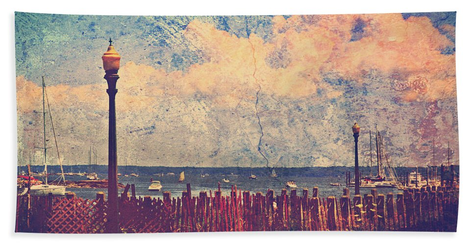 Mamaroneck Beach Towel featuring the photograph The Salty Air Sea Breeze In Her Hair IV by Aurelio Zucco