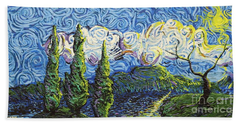 Impressionism Beach Towel featuring the painting The Shores Of Dreams by Stefan Duncan