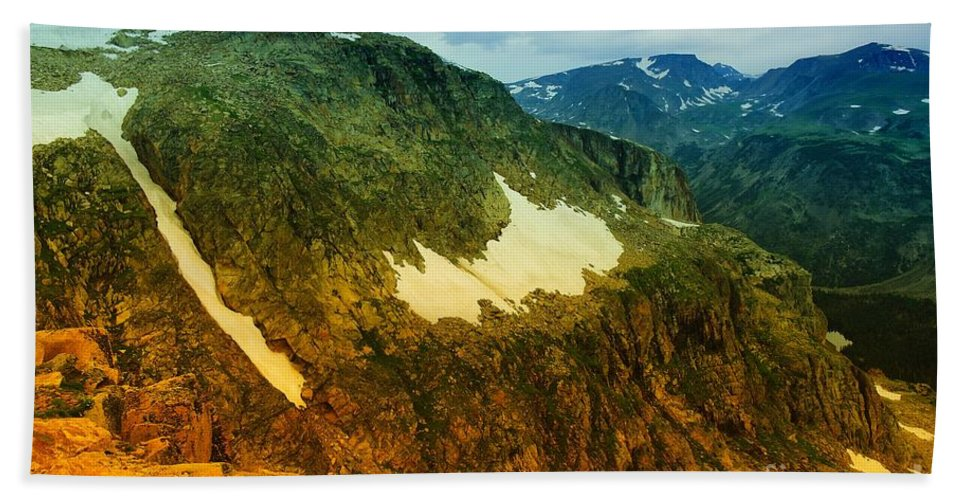 Mountains Beach Towel featuring the photograph The Silent Mountains by Jeff Swan