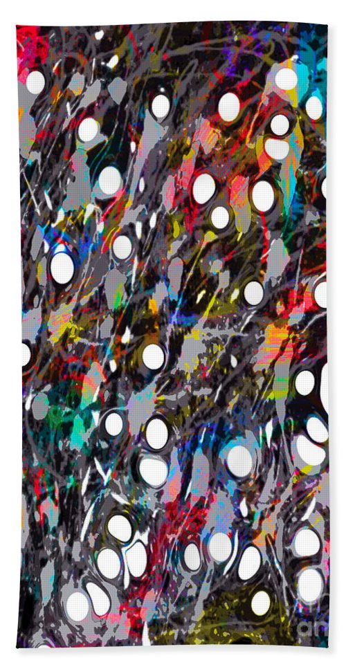 Acrylic Abstract Beach Towel featuring the digital art The Soul Verses The Intellect by Yael VanGruber