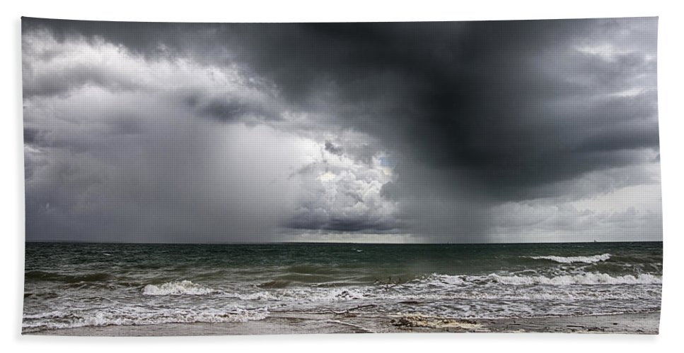 Storm Beach Towel featuring the photograph The Storm by Douglas Barnard