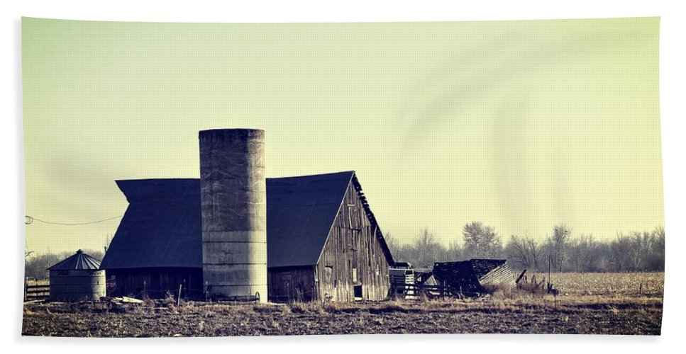 Barn Beach Towel featuring the photograph The Story by Image Takers Photography LLC