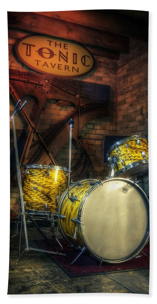 Drums Beach Towel featuring the photograph The Tonic Tavern by Scott Norris