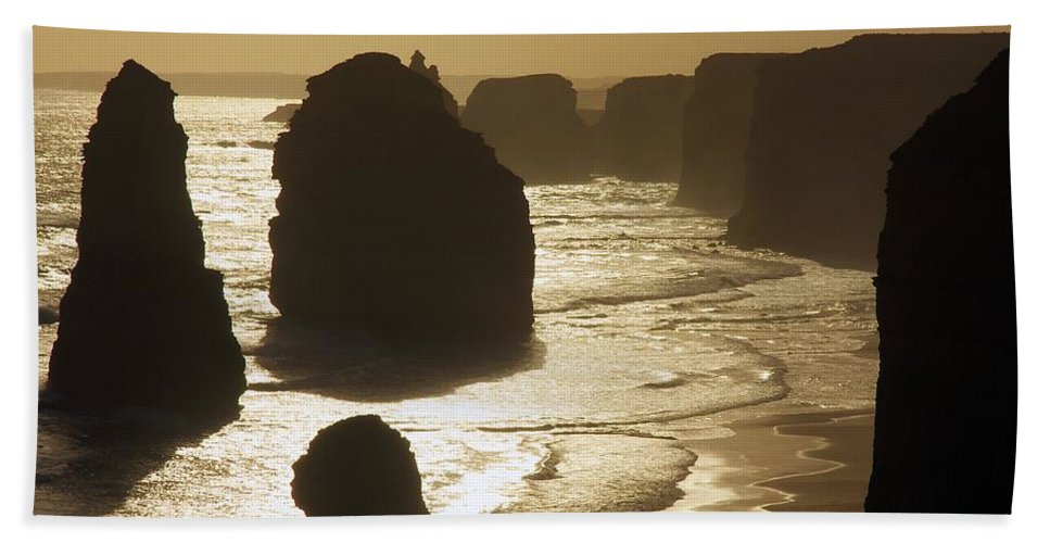 Australia Beach Towel featuring the photograph The Twelve Apostles #3 by Stuart Litoff