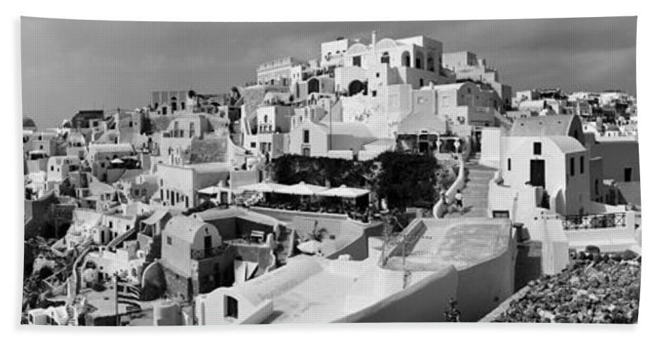 Island Beach Towel featuring the photograph The Village Of Oia 2 by Jack Daulton