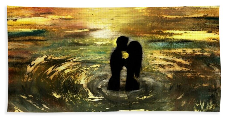 Beautiful Beach Towel featuring the photograph The Vow by Artist RiA