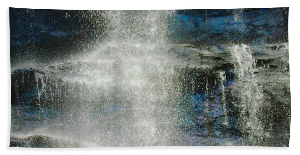 Amicalola Beach Towel featuring the photograph The Water Blue by Jost Houk