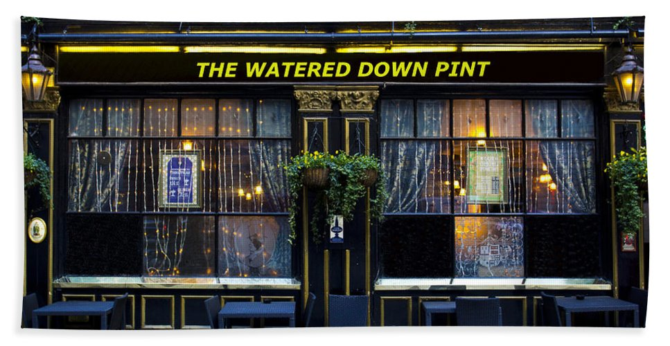 Pub Beach Towel featuring the photograph The Watered Down Pint by David Pyatt