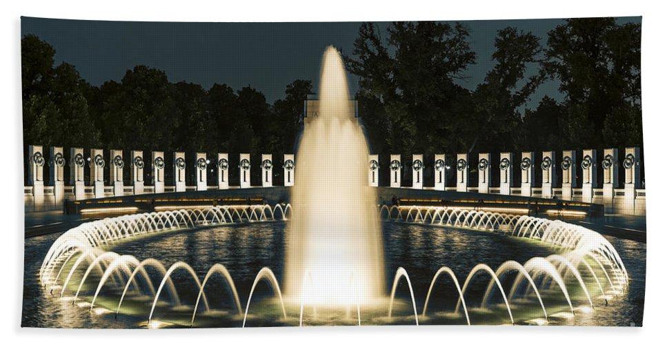 America Beach Towel featuring the photograph The World War II Memorial by John Greim