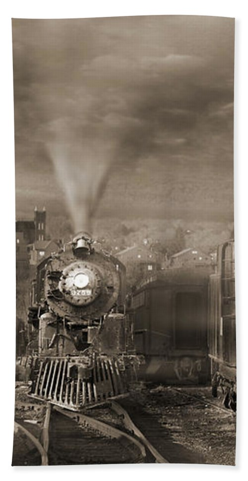 Transportation Beach Towel featuring the photograph The Yard 2 by Mike McGlothlen