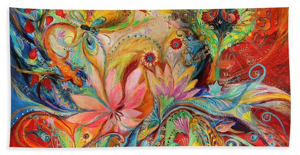 Jewish Art Prints Beach Towel featuring the painting The Zodiac Signs by Elena Kotliarker