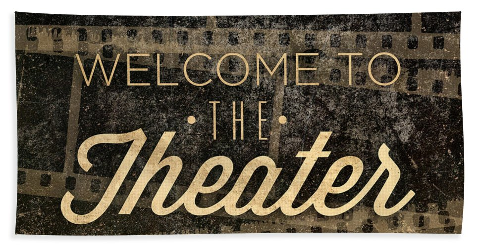 Theater Beach Towel featuring the digital art Theater by South Social Graphics