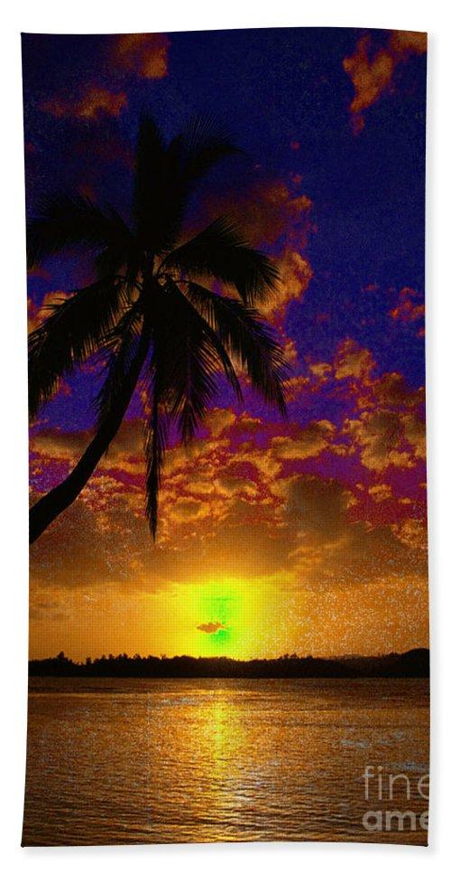 Digital Art Landscape Beach Towel featuring the digital art Thinking Of You by Yael VanGruber