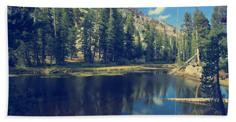 Yosemite National Park Beach Towel featuring the photograph This Beautiful Solitude by Laurie Search
