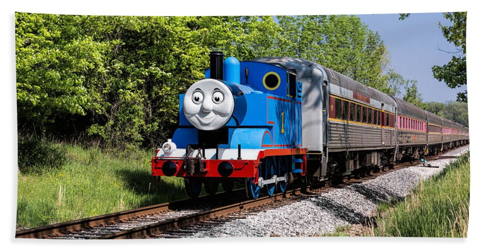 Thomas The Train Beach Towel featuring the photograph Thomas Visits The Cvnp by Dale Kincaid
