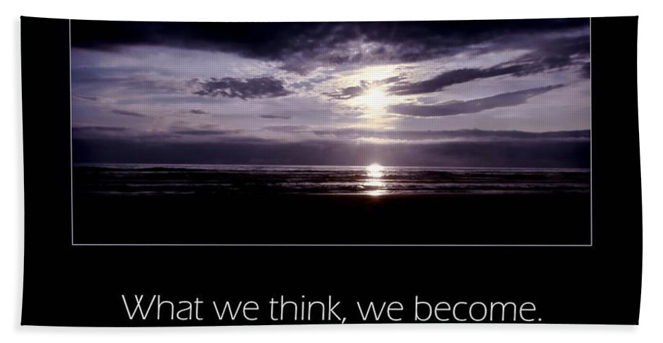 Inspiration Beach Towel featuring the photograph Thoughts by Don Schwartz