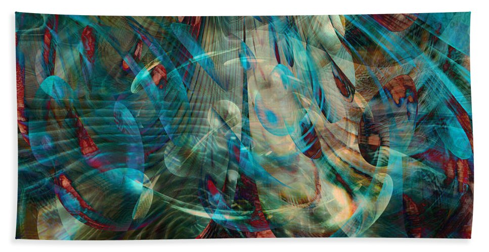 Thoughts In Motion Beach Towel featuring the digital art Thoughts In Motion by Linda Sannuti