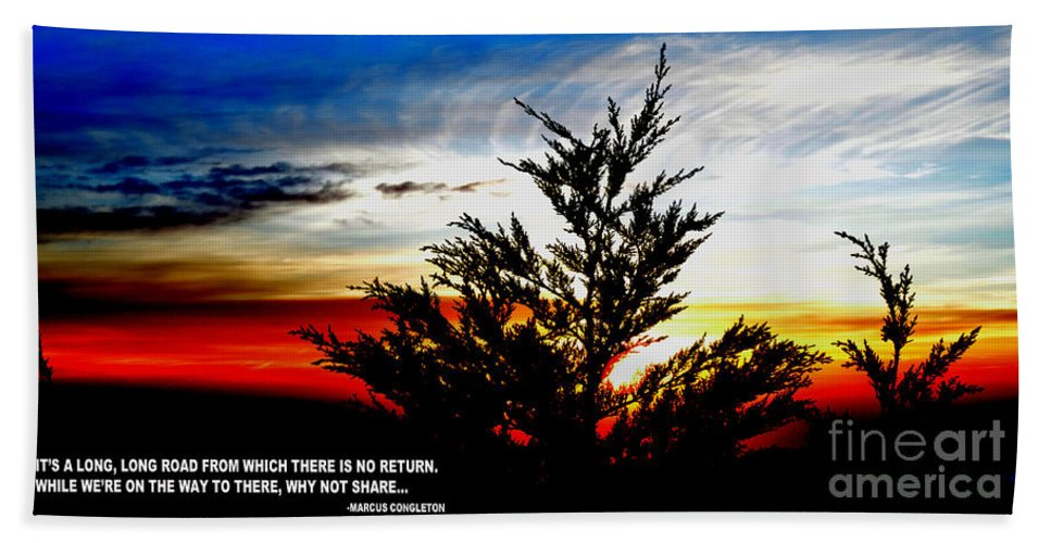 Sunset Beach Towel featuring the photograph Thoughts On Life At The End Of A Day by Jim Fitzpatrick