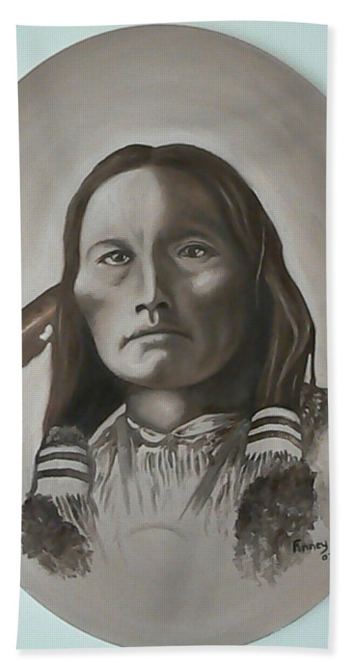 Michael Beach Towel featuring the painting Three Fingers by Michael TMAD Finney