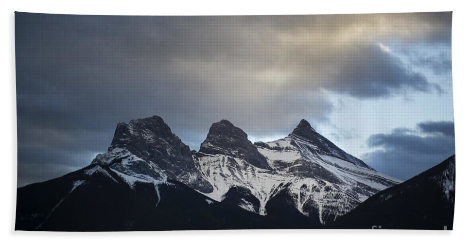 Three Sisters Beach Towel featuring the photograph Three Sisters - Special Request by Evelina Kremsdorf