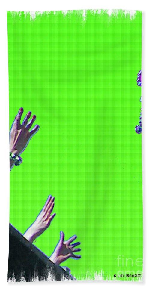 Mardis Gras Beach Towel featuring the digital art Throw by Lizi Beard-Ward