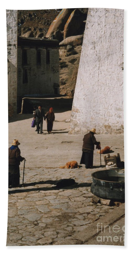 Tibet Beach Towel featuring the photograph Tibet 2x2x2 By Jrr by First Star Art