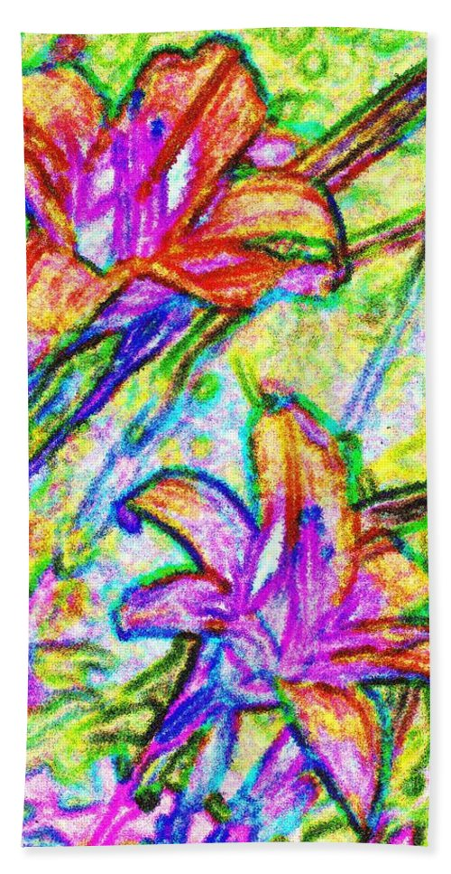 Tiger Beach Towel featuring the photograph Tiger Lillies by Ian MacDonald